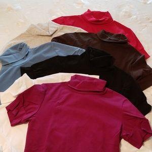 VS bundle 7 short sleeved turtle necks